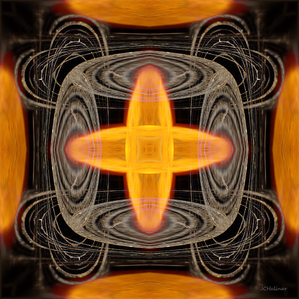 Abstract Digital Art - Hydrogen Fusion by Joe Halinar