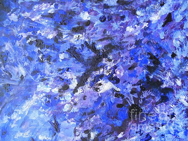 Abstract Painting - I Got The Blues by Anu Narayanan