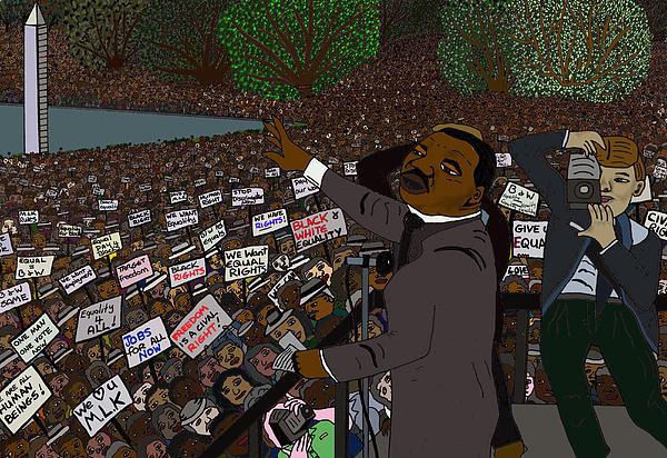 Martin Luther King Digital Art - I Have A Dream by Karen Elzinga