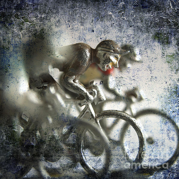 Bicycle Photograph - Illustration Of Cyclists by Bernard Jaubert