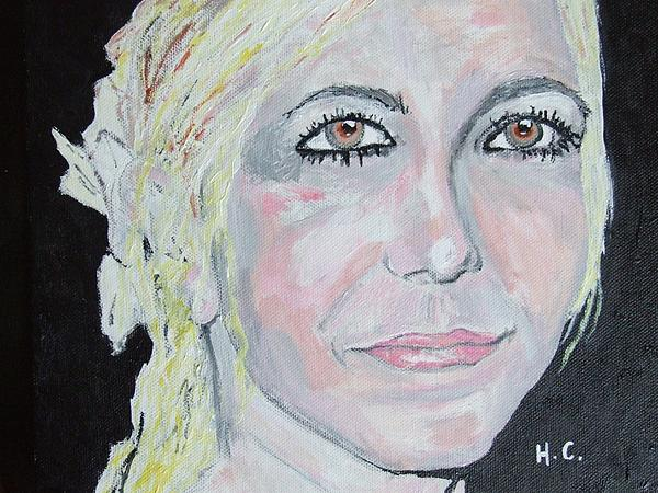 Woman Painting - Im Not A Girl by Horace Cornflake