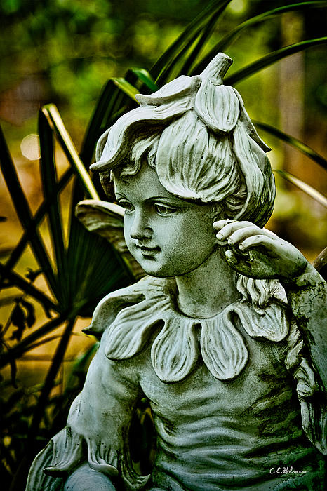 Statue Photograph - In The Garden by Christopher Holmes
