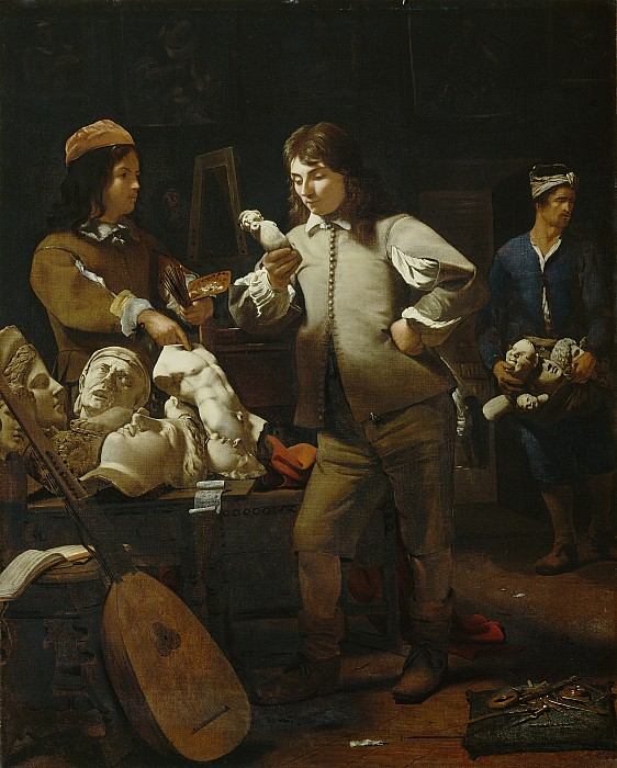 The Painting - In The Studio by Michael Sweerts