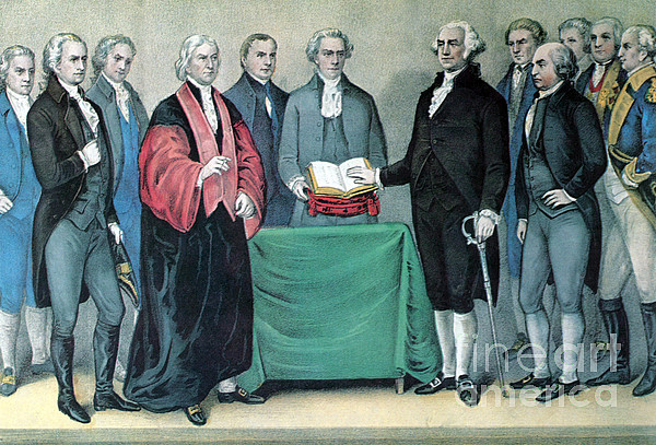 History Photograph - Inauguration Of George Washington, 1789 by Photo Researchers