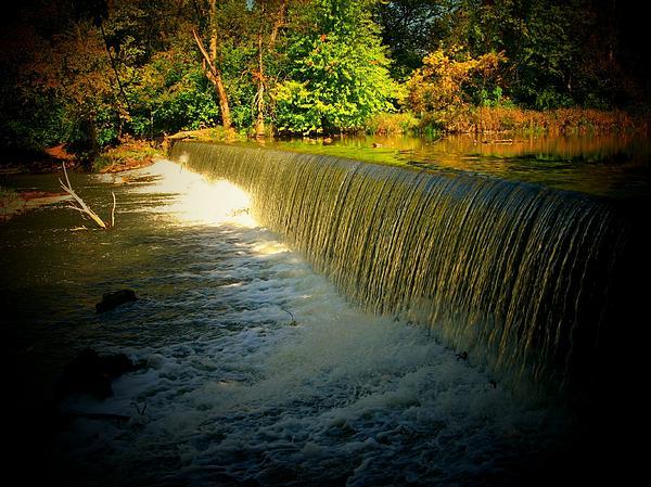 Waterfall Photograph - Indiana Waterfall by Joyce Kimble Smith