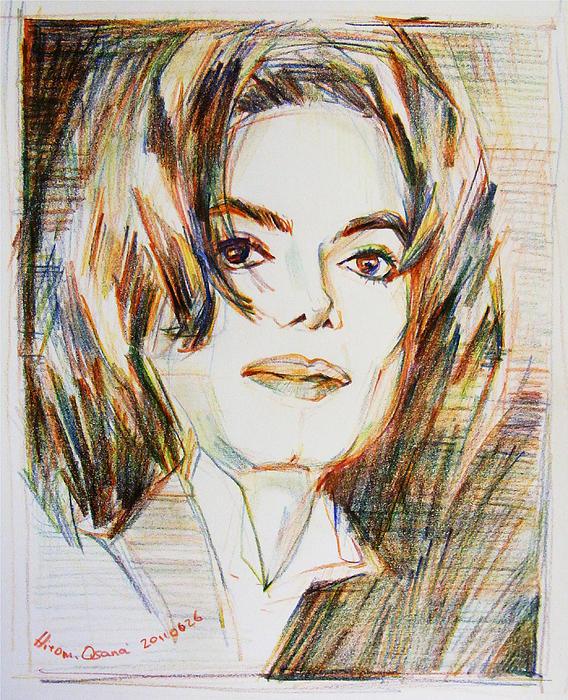 Michael Jackson Drawing - Indigo Child by Hitomi Osanai