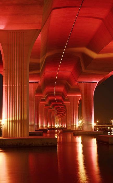 Roosevelt Bridge Photograph - Inside Support by Lynda Dawson-Youngclaus