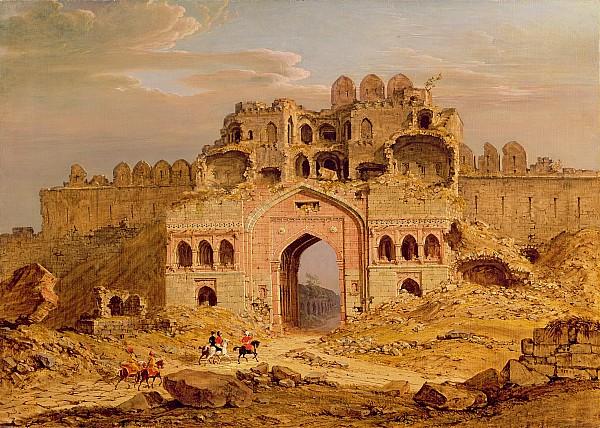 Xyc136956 Photograph - Inside The Main Entrance Of The Purana Qila - Delhi by Robert Smith