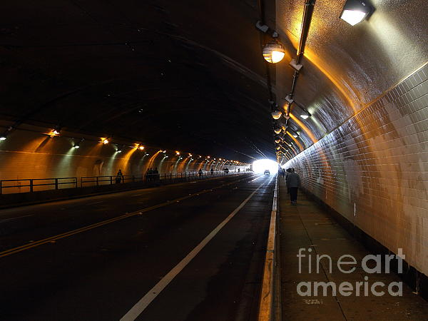 San Francisco Photograph - Inside The Stockton Street Tunnel In San Francisco . 7d7363.3 by Wingsdomain Art and Photography