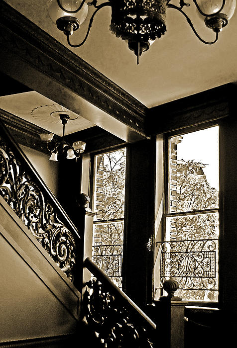 Stairway Photograph - Interior Elegance Lost In Time by DigiArt Diaries by Vicky B Fuller