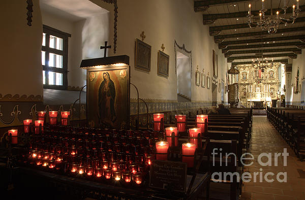 Architecture Photograph - Interior Old Mission by Bob Christopher