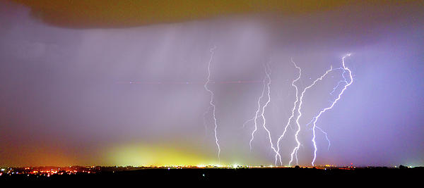 Lightning Bolt Photograph - Into The Colorful Night by James BO  Insogna