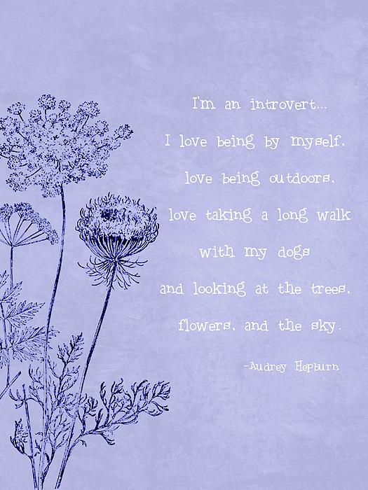 Introvert Digital Art - Introvert by Tia Helen