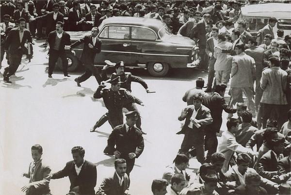 History Photograph - Iranian Police Assaulting School by Everett