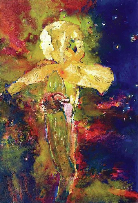 Iris Painting - Iris Cosmic by Petro Beva