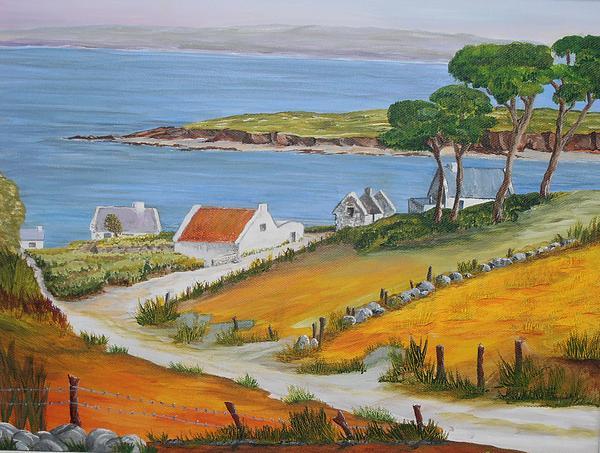 Irish County Painting - Irish Seaside Village by Siobhan Lawson