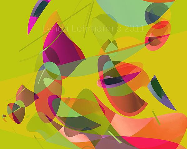 Abstract Digital Art - Islandia by Lynda Lehmann