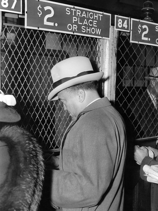History Photograph - J. Edgar Hoover Placing A Bet by Everett