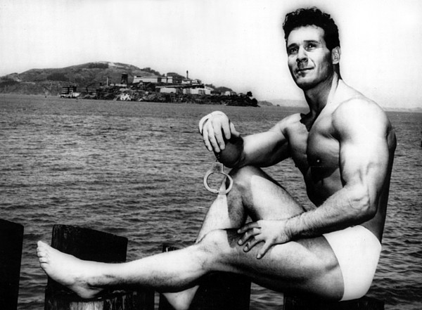 1950s Photograph - Jack Lalanne Before Handcuffed Swim by Everett