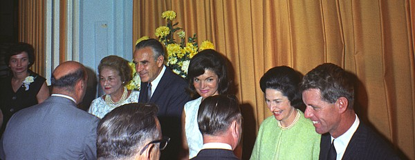 History Photograph - Jacqueline And Robert Kennedy Host by Everett