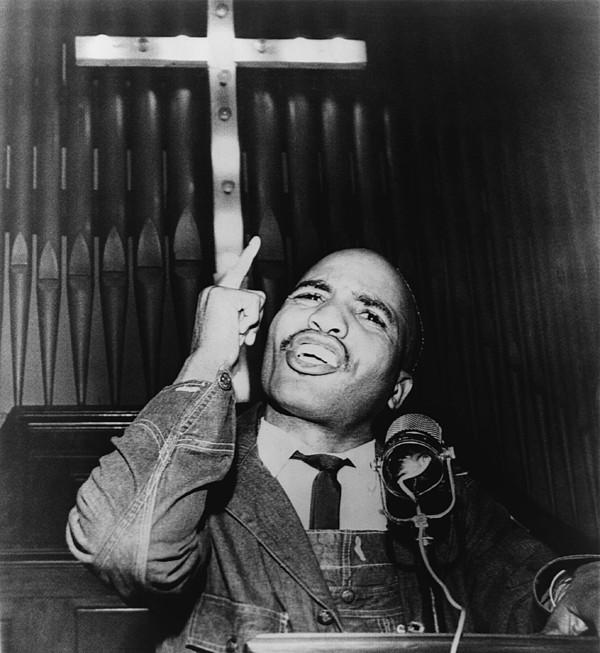 History Photograph - James Bevel 1936-2008 Speaking by Everett