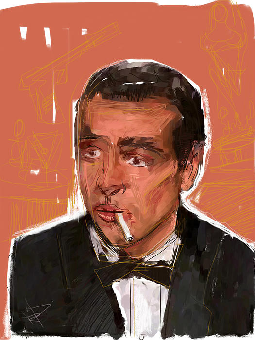 James Bond Mixed Media - James Bond by Russell Pierce
