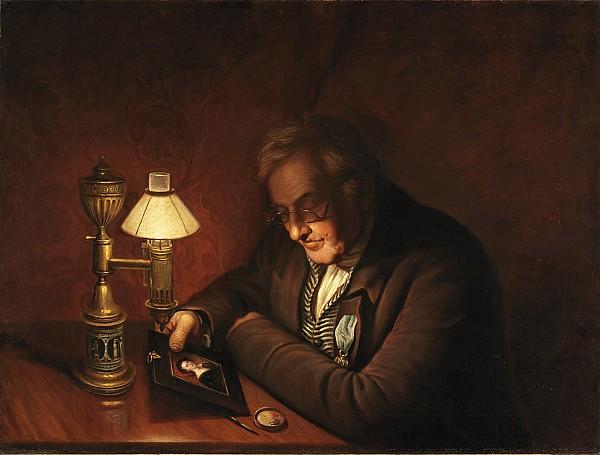 James Painting - James Peale by Charles Willson Peale