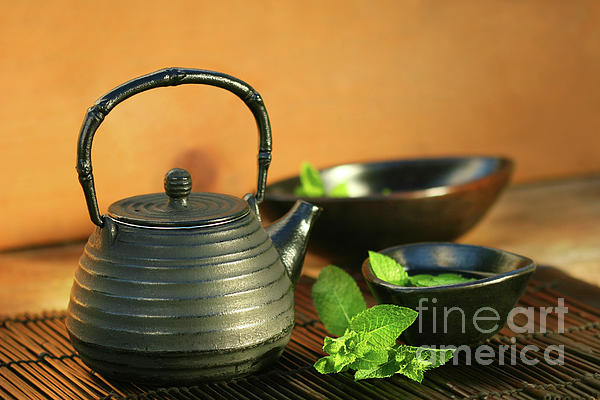 Asia Photograph - Japanese Teapot And Cup  by Sandra Cunningham