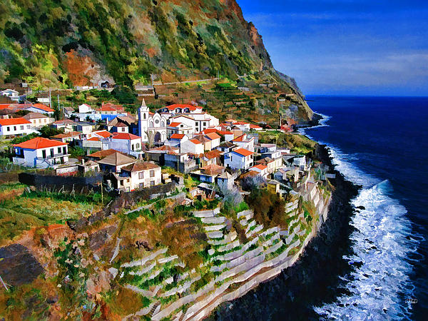 Madeira Island Painting - Jardim Do Mar by Dean Wittle