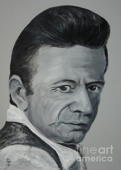 Johnny Cash Painting - J.cash by Pete Maier
