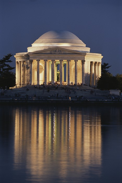 North America Photograph - Jefferson Memorial, Night View by Richard Nowitz