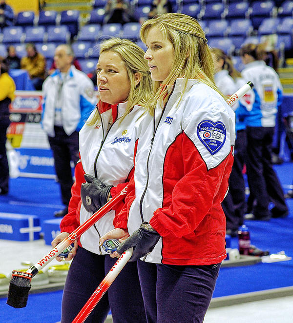 Curling Photograph - Jennifer And Cathy by Lawrence Christopher