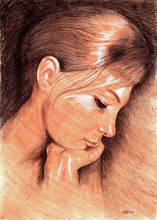 Hakon Drawing - Jenny by Hakon Soreide