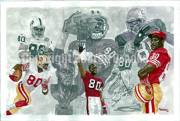 Football Painting - Jerry Rice - Hall Of Fame Collection by George  Brooks