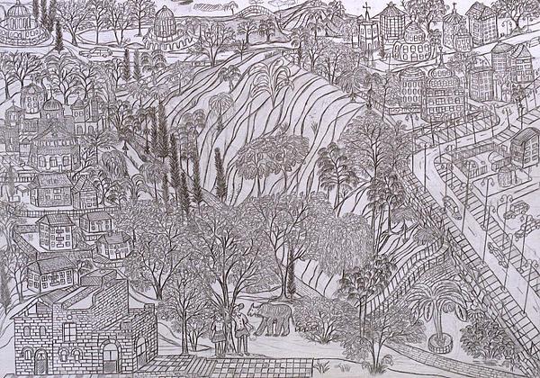 Drawing Drawing - Jerusalem Iv by Yuriy Mkhitaryants