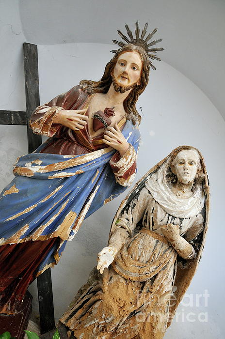 Love Photograph - Jesus Christ And Saint Statues In Church by Sami Sarkis