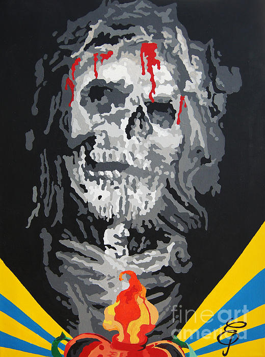 Contemporary Painting - Jesus by Erik Pinto