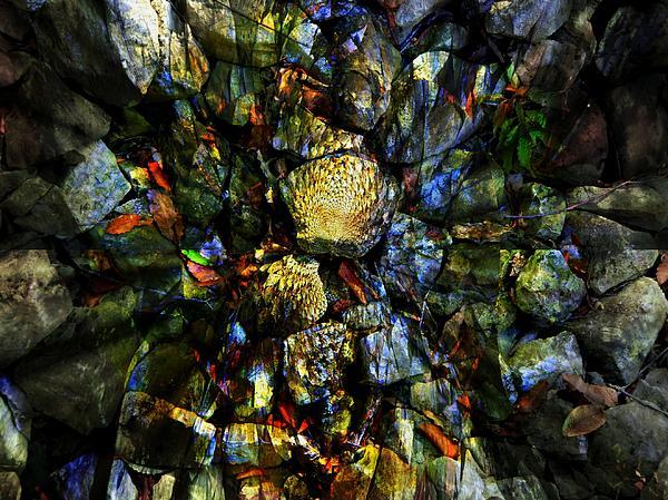 Stone Photograph - Jeweled Cavern by Mindy Newman