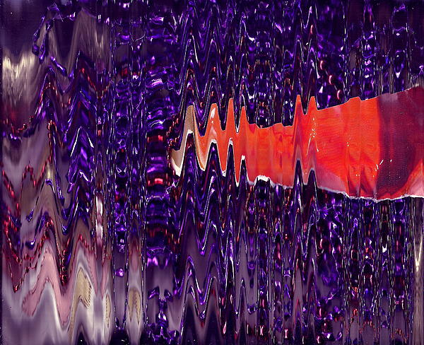 Purple Mixed Media - Jewels And A Red Sash by Anne-Elizabeth Whiteway
