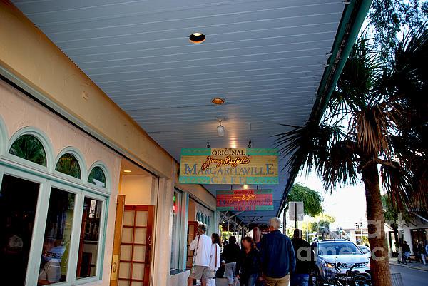 Key West Photograph - Jimmy Buffets Margaritaville Key West by Susanne Van Hulst