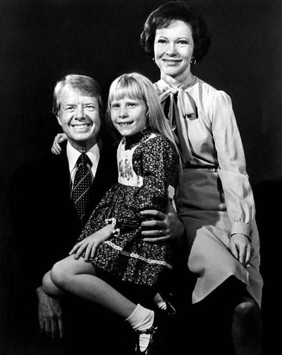 Jimmy Carter, Amy Carter And Rosalynn Photograph by Everett