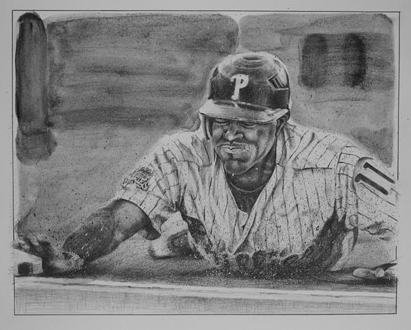 Jimmy Rollins Drawing - Jimmy Rollins by Paul Autodore