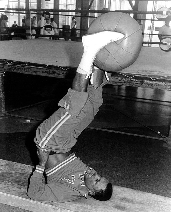Boxer Photograph - Joe Frazier In Training At The Concord by Everett