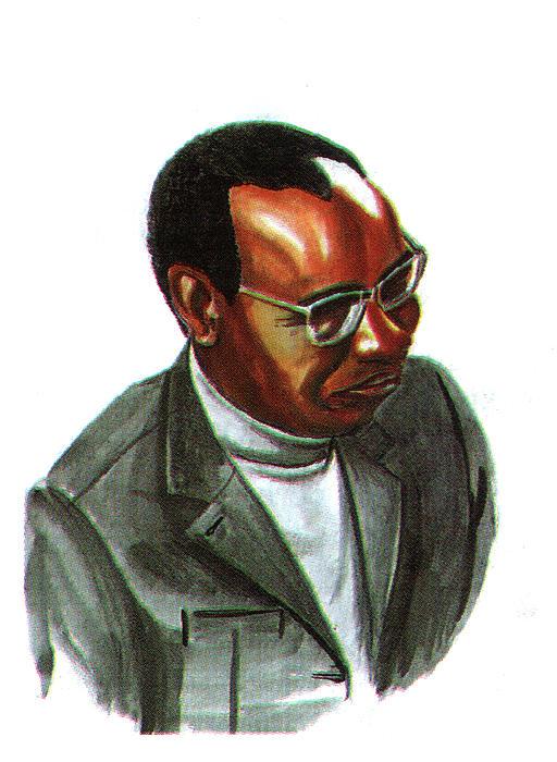Portraits Painting - John Mbiti by Emmanuel Baliyanga