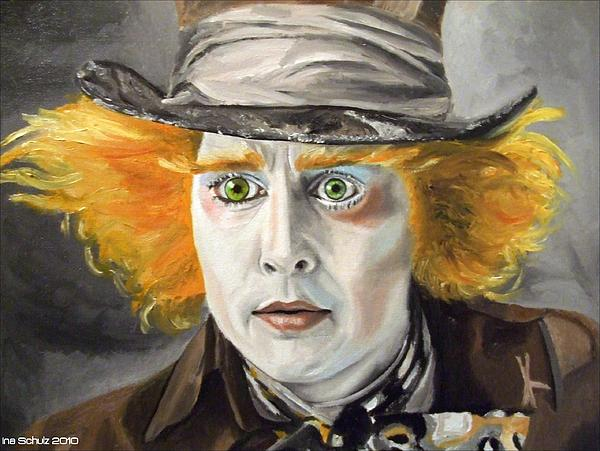 Johnny Depp Painting - Johnny Depp - The Mad Hatter by Ina Schulz
