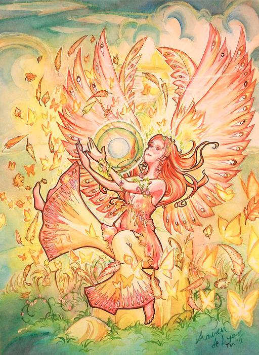 Angel Painting - Jophiel by Arwen De Lyon
