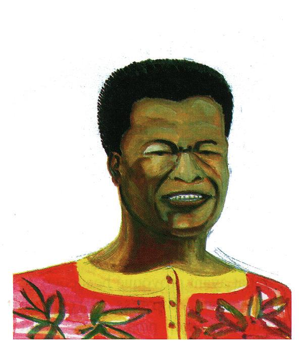 Portraits Painting - Jose Belo Chipenda by Emmanuel Baliyanga