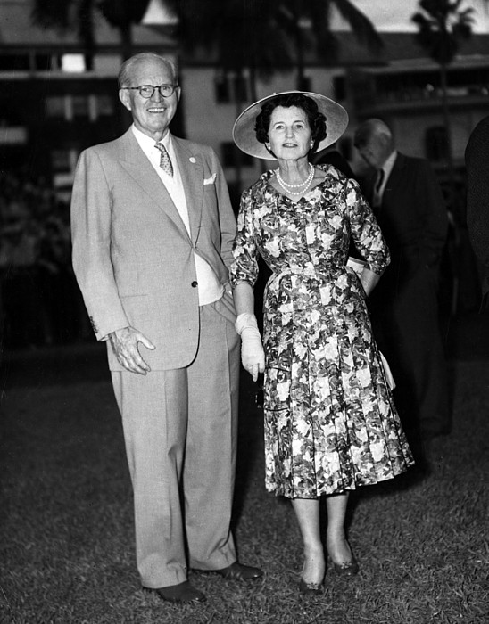 1950s Candids Photograph - Joseph P. Kennedy And Wife Rose by Everett