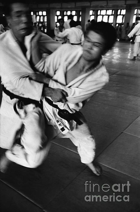 Tokyo Photograph - Judo by Bernard Wolff