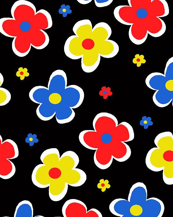 Louisa Digital Art - Junior Florals by Louisa Knight